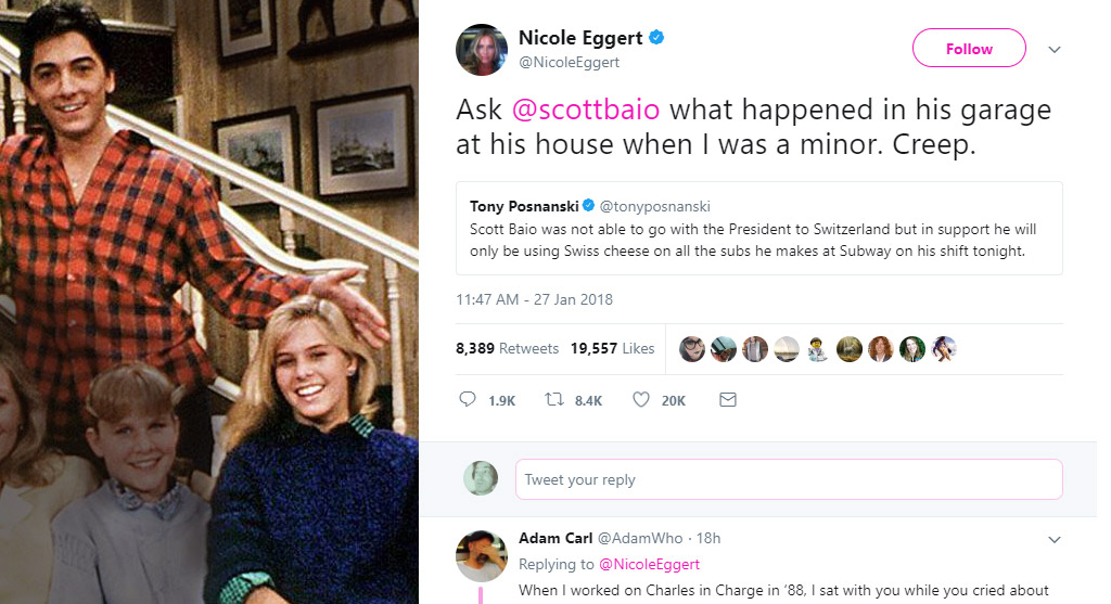 'Charles in Charge' Nicole Eggert Says Scott Baio Molested Her as a Minor